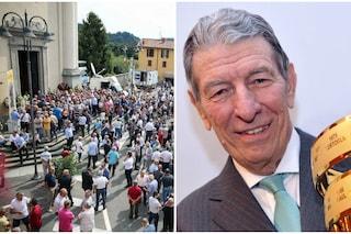 Folla e commozione ai funerali di Felice Gimondi: i grandi del ciclismo per l'addio al campione