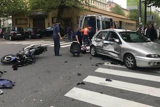 Incidente a Cesano Maderno: violento scontro tra auto e moto, gravissimi una 13enne e un 17enne
