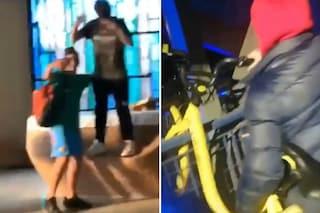 Segrate, ragazzi ballano sull'altare della chiesa e gettano una bici dal ponte: le foto su Facebook