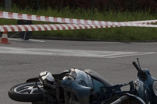 Corsico: schianto tra moto e bici, due uomini in fin di vita