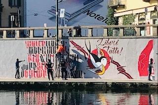 Milano, cancellato di nuovo il murales in Darsena per ricordare Dax: la rabbia dei militanti