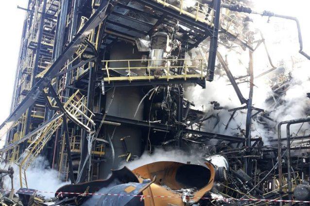 L'area dove si è verificata l'esplosione (foto: Simone Giancristofaro)