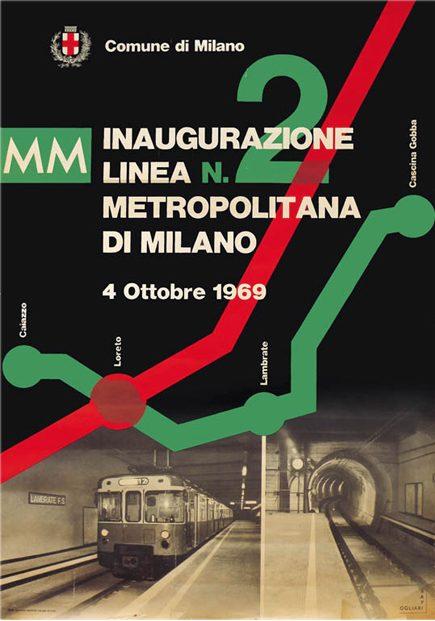 Un'altra delle locandine per l'inaugurazione della linea 2 della metro di Milano (dal sito Atm)