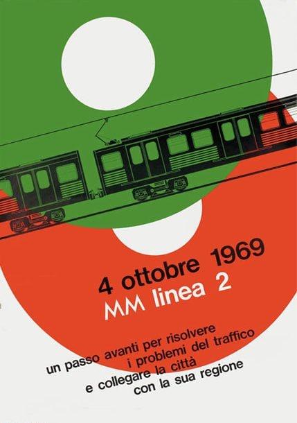 Una delle locandine per l'inaugurazione della linea 2 della metro di Milano (dal sito Atm)