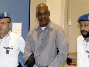Ousseynou Sy durante un'udienza del processo