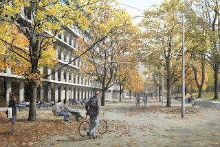 Milano, iniziati i lavori per i giardini accanto alla Fondazione Feltrinelli