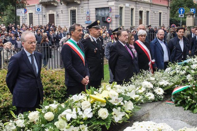 Il sindaco di Milano Giuseppe Sala alla commemorazione per le vittime della strage