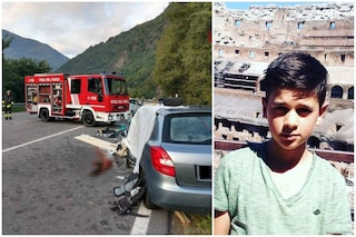 Ardenno, camion perde il carico e schiaccia un'auto: non ce l'ha fatta la mamma di Matteo