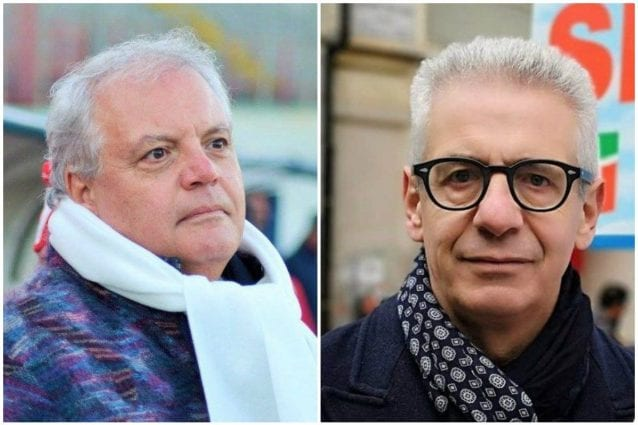 A sinistra Nino Caianiello, a destra il deputato di Forza Italia Diego Sozzani