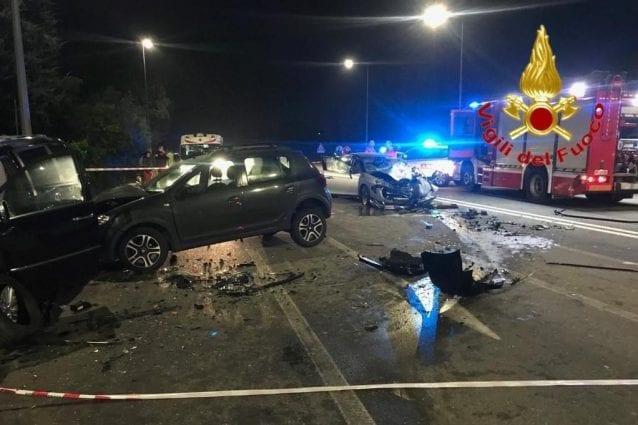 L'incidente sul Sempione (Foto Vigili del fuoco)