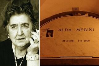 """La tomba di Alda Merini: la poetessa dei Navigli tra i """"grandi"""" di Milano al Monumentale"""