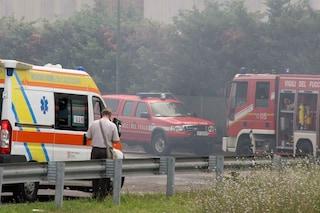 Muzzo, non ha la cintura: uomo intubato e ricoverato in codice rosso dopo un frontale con un camion