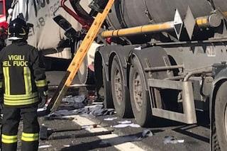 Incidente a Turate, scontro tra auto e camion: morto un uomo