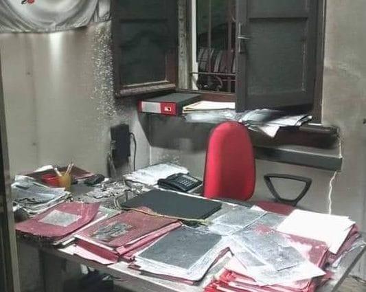 I danni provocati dalla bomba