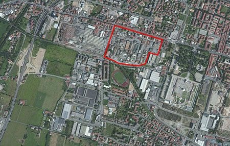 L'area della Caffaro a Brescia (dal sito Arpa)