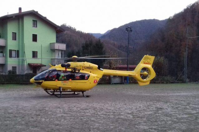 Un elicottero del soccorso alpino