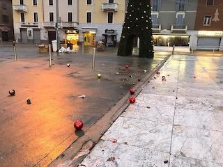"""Cinisello Balsamo, vandali devastano l'albero di Natale del Comune: """"Uno scempio"""""""