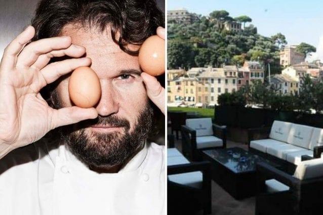 Lo chef Carlo Cracco e il ristorante Il Pitosforo a Portofino