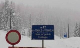 Oltre un metro di neve nel Bresciano: chiusa la Statale 42 per il Tonale