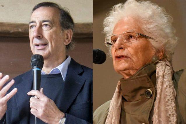 Il sindaco di Milano Sala e la senatrice a vita Segre