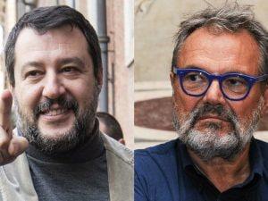 Matteo Salvini e Oliviero Toscani
