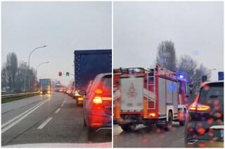 Milano, incidente stradale sulla sp 114 a Cusago: due feriti, code e traffico in tilt