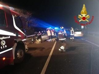 Schianto frontale tra due auto ad Adro: quattro feriti, due sono gravi