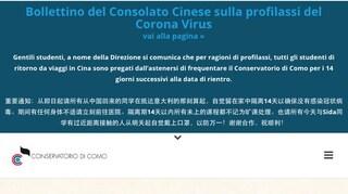 Psicosi coronavirus, conservatorio di Como tiene a casa gli studenti senza il parere del ministero