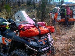 i mezzi dell'Unità soccorso tecnico di Varese (Foto da Facebook)