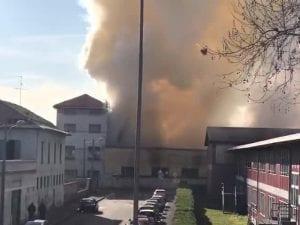 L'incendio a Monza