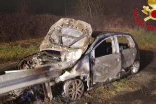 Lodi, incidente tra 4 auto sulla A1: veicolo in fiamme sulla provinciale a San Rocco