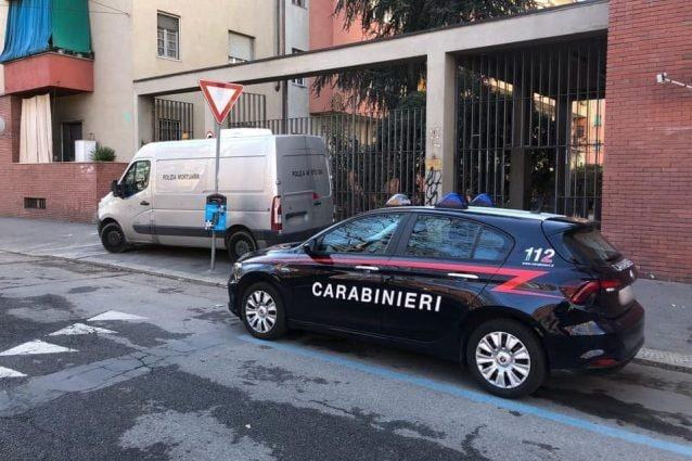 L'intervento dei carabinieri sul luogo del ritrovamento del corpo
