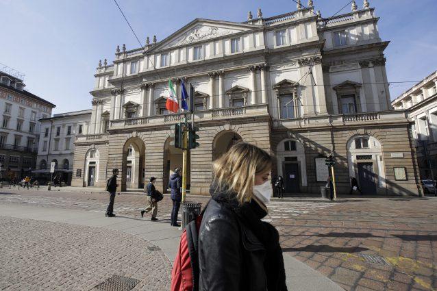 Il teatro alla Scala di Milano nei giorni del coronavirus