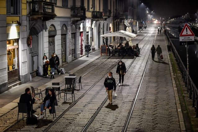 I Navigli a Milano nei giorni del provvedimento comunale