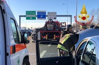 Milano, incidente stradale sulla tangenziale est: due feriti lievi, code all'altezza di Lambrate