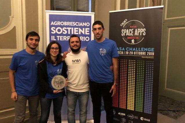 Benedetta Fugazza e gli altri partecipanti alla Space Apps Challenge della Nasa