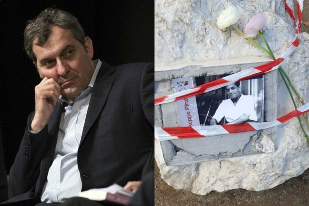 Mario Calabresi e la targa dedicata a Pinelli danneggiata