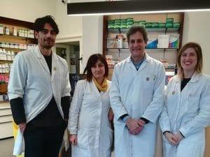 Il team della farmacia Smeraldo