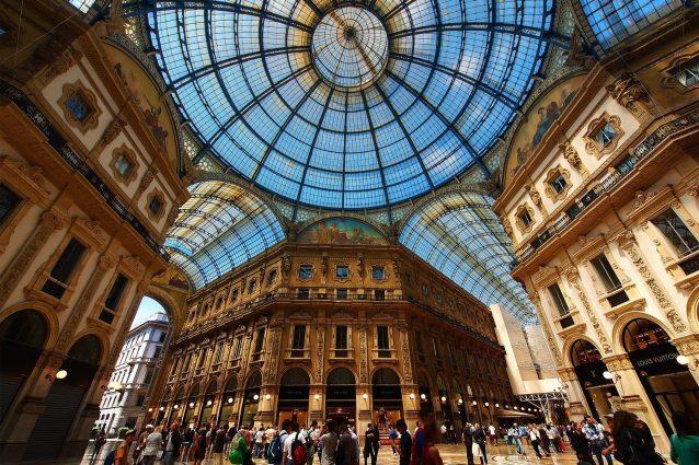 L'ottagono della Galleria Vittorio Emanuele II di Milano