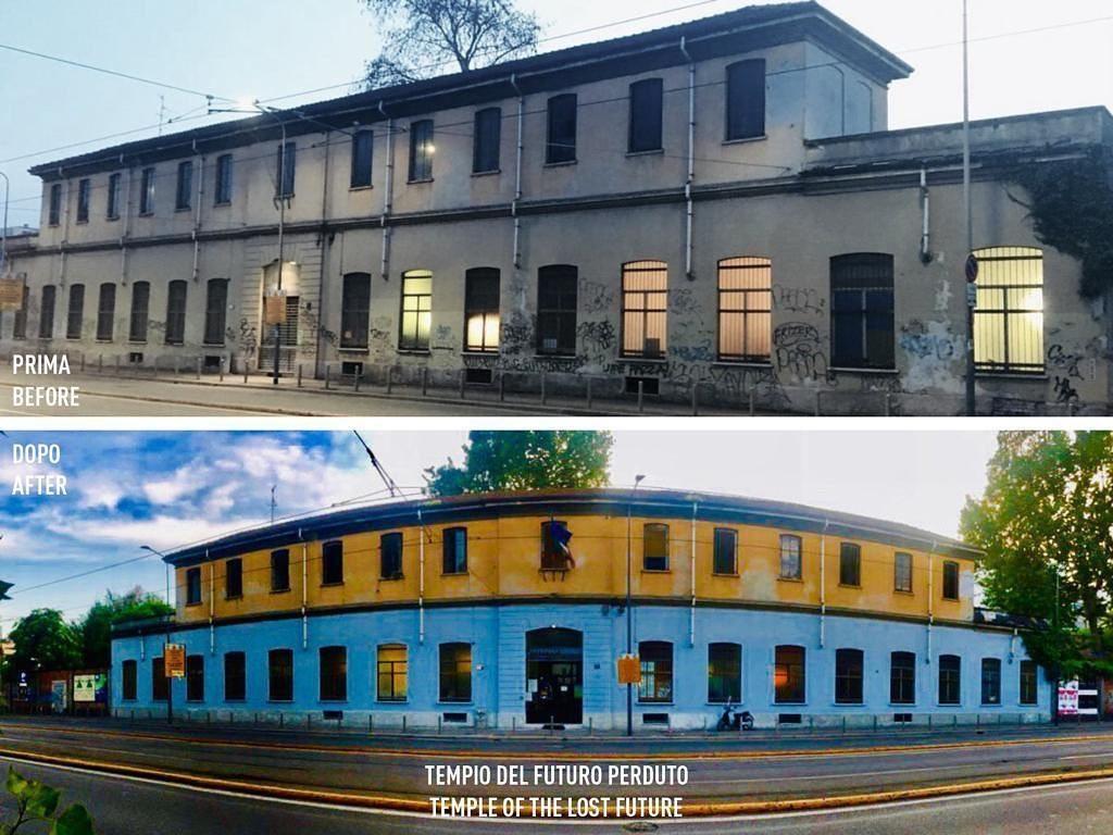 Gli spazi della Fabbrica del Vapore (prima e dopo la ristrutturazione)