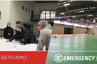 Coronavirus, Emergency gestirà la terapia intensiva dell'ospedale da campo di Bergamo