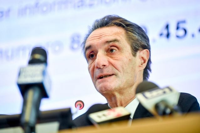 Il presidente della regione Lombardia Attilio Fontana