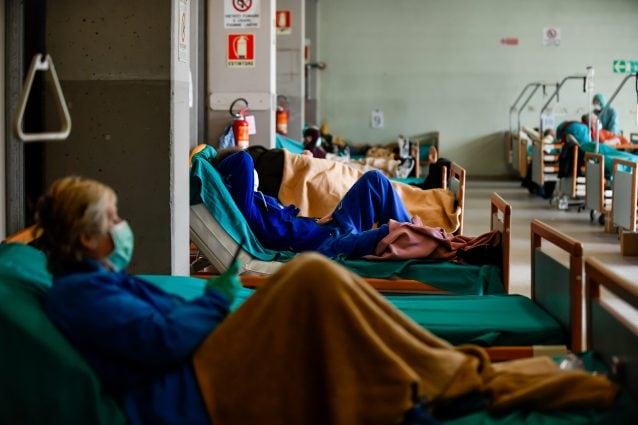 Triage degli Spedali Civili di Brescia allestito per l'emergenza coronavirus