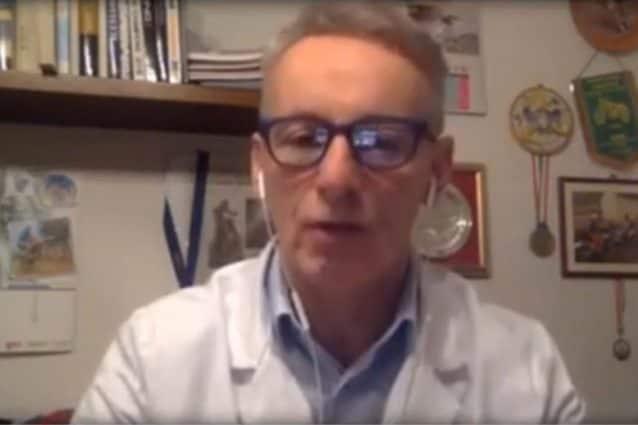 Luca Lorini in collegamento con BergamoTv