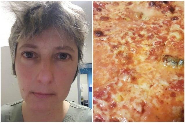 Le due foto pubblicate su Facebook dall'infermiera Sabina Baggioli