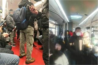 Coronavirus a Milano, metro e bus affollati: dopo le proteste dei pendolari Atm potenzia le corse