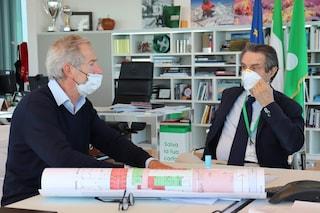 """Fontana richiama Bertolaso: """"L'ospedale in Fiera è la strada che dovremo portare avanti"""""""