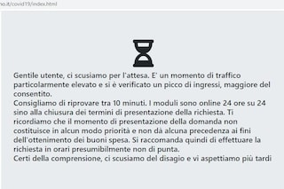 Buoni spesa, in tilt il sito del Comune di Milano per richiederli: troppi accessi
