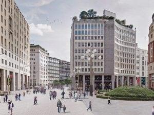 Piazza san Babila nel nuovo progetto
