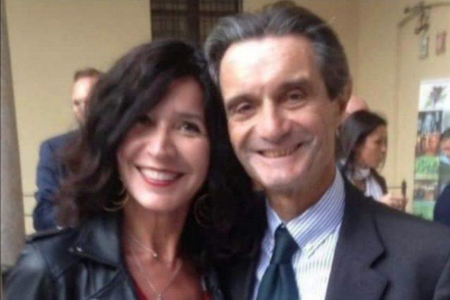 La consigliera di Italia Viva Baffi con Fontana: l'esponente di Iv è l'unica tra le fila dell'opposizione che non sosterrà la mozione di sfiducia al governatore